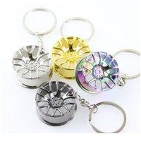 RAD RIM Modell Keychain Hohe Qualität Auto Schlüsselanhänger LLaveros Hombre Creative Hub Design Metal Key Ring Coole Chic Geschenke Qylayg