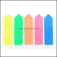 Wall Décor Home & Gardenwall Stickers 100Pcs Sticky Note Marker Label For School And Office Colored Small Labels, Page Markers, 12 X 44 Mm,