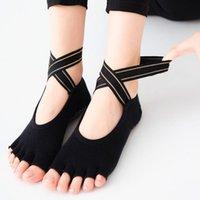2021 New Brand Quick-Dry Damping Pilates Ballet Socks Good Grip for Men&Women Cotton Socks Women High Quality Bandage Yoga Socks Anti-Slip