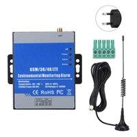 RTU5023 GSM الكاشف البعيد درجة الحرارة الرطوبة إنذار دعم تقرير مؤقت (EU التوصيل 100-240V)