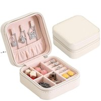 Storage Box Travel Jewelry Boxes Organizer PU Leather Display Case Necklace Earrings Rings Jewelries Holder Gift NHB10513