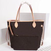 2021 حقائب اليد الكلاسيكية حقائب الكتف حقائب يد المرأة حقيبة المرأة حمل حقيبة محافظ أكياس براون حقائب جلدية القابض الأزياء