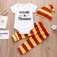 Clothing Sets Born Baby Girl Boy Clothes Set Cotton Tops Bodysuit+Pants +Hat 3Pcs Infant Outfits