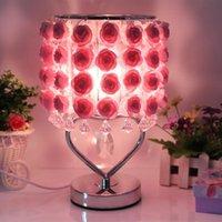 Lampes de table Rose Desk Lampe Anniversaire Idées Anniversaire Éclairages de chevet pour Chambre Night Standing Salon Salon Décor bébé