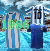 1986 Maradona Arjantin Retro Uzakta Futbol Forması Maradona 86 Vintage Klasik Ev Uzakta Retro Futbol Gömlek MAILLOT CAMISETAS DE FUTBO