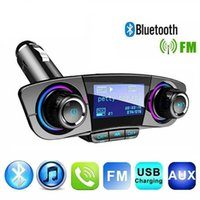 BT-06 Dual USB Car Fast Charger Adapter FM Transmitter Bluetooth Handsfree Receiving Kit Wireless MP3 Music Player Support TF Card U Disk With Led Display