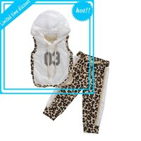 Новые 2 шт. Девушки Спортивная одежда Pak Zomer Herfst Дыхание сетки Mouwlless Top + Creative Luipaard Print Long Broke Set