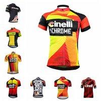 Cinelli 팀 사이클링 유니폼 짧은 소매 셔츠 남성 편안한 자전거 의류 Maillot Ropa Ciclismo MTB 레이싱 자전거 의류 101907