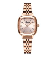Retro Series Clever Freely Stainless Steel Band Quartz Womens Watches Square Dial Ladies Watch Brilliant Light Wristwatches