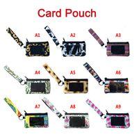 Neoprene bolsa tampa de passaporte cartão de identificação cartão de festa de festa de festa de mão bolsa de mão carteira com pulseira
