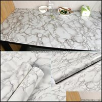 Décor Home & Gardenmarble Vinyl Film Self Adhesive Waterproof Wallpaper For Bathroom Kitchen Cupboard Countertops Contact Paper Pvc Wall Sti