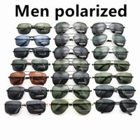 Homens polarizados dirigindo óculos de sol para mens Nove metal moldura clássico óculos protetor solar quadrado piloto piloto óculos óculos