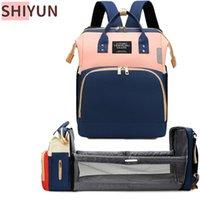 Sacs à couches Shiyun Baby Sac Back Backpack pour maman Maman maternité Poussette Nappy Capacité Capacité Swining Upgrade Crochets SZ45