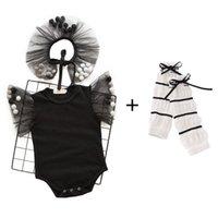 السروال القصير الطفل الرضع بذلة الملابس الوليد الفتيات الصيف القطن قصير الأكمام الدانتيل داخلية الساق تدفئة 2 قطعة / مجموعات B4520