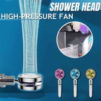 High Pressure Water Saving Spray Shower Head 360 Rotated Rainfall Shower Head Fan Bath Hand-held Pressurized Massage Shower Head 210903