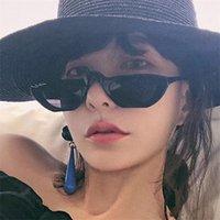 Gafas de sol de anillo de lujo Moda Moda Moda Damas de sol para mujer 2021 Retro Pequeñas gafas de sol Diseñador de marca