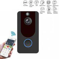 V7 HD 1080P الذكية واي فاي فيديو جرس الباب الكاميرا البصرية إنترفون للرؤية الليلية IP جرس الباب الدائري لاسلكية أمن الوطن كاميرا