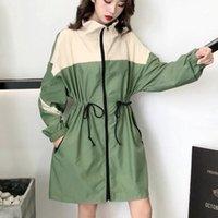 Women's Trench Coats 2021 Spring Korean Version Of The Retro Long Windbreaker Jacket Casual Loose Women Le76