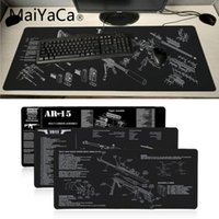 Mouse Pads & Wrist Rests MaiYaCa CS GO Gun Parts M14 AR-15 HK45 98K Office Mice Gaming Pad Soft Radiation Decorate Your Desk Mat