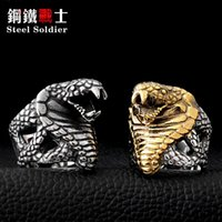 Cluster Rings Steel Soldier Super Fashion Stainlesss Personality Jewelry Punk Unique Snake Ring