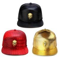 2021 새로운 패션 힙합 남자 \ 여자 VIP 고품질 PU 가죽 야구 모자 캐주얼 뼈 스냅 백 모자 블랙 \ Gold \ red