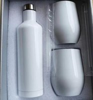 Bumblers Hassimation هدية مجموعة 17 أوقية زجاجة النبيذ الفولاذ المقاوم للصدأ مع اثنين من هدايا نظارات 12oz