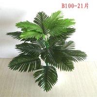 90 cm 39 Kafaları Dekoratif Çiçekler Tropikal Bitkiler Büyük Yapay Palmiye Ağacı Sahte Monstera Ipek Yaprakları Yanlış Bitki Ev Bahçe Dekor için Yapraklar 2175 V2