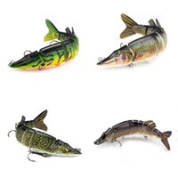 2 PCSEALUER 9-SEGEGED LIFELIKE HARD CRANKBAIT LURE 12.5CM / 20G 3D Глаза Два крючка Рыбалка Baits Pesca C19041201 250 x2