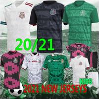 21/22 Tailandês Clube de México México Retro Futebol Jerseys 2020 Camisetas H.Lozano Dos Santos Chicharito Homem Kit Kit Camisa de Futebol