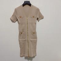 Milan Pist Elbise 2021 Yeni Bahar Yaz Baskı kadın Tasarımcısı Elbise Marka Aynı Stil Elbise 0228-3