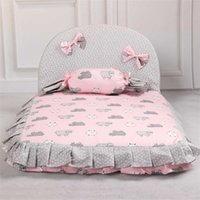 Dog Lovely Bed Comfortable Warm Pet House Print Fashion Cushion for pet Sofa Kennel Top Quality Puppy Mat Pad 211022