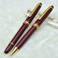 럭셔리 MSK-163 클래식 와인 빨간색과 검은 색 수지 롤러 펜 볼펜 분수 일련 번호 IWL666858 고품질 편지지 사무실 학교 용품을 펜