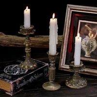 Chandelier Vintage Vintage European Home Décoration Accessoires Association Bloc Candle Dekoracje Slubne Décorations de mariage BD50CH
