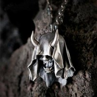 Chains Fang Demon Mask Necklace Retro Gothic Jewelry Europe And America Death Satan Skull Accessories Chain Pendant Friend Gift