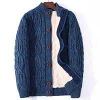 Winter Cardigan Male Thicken Warm Wool Cashmere Coats Sweater Men Clothing 2020 New Outwear Size 4XL 5XL 6XL 7XL