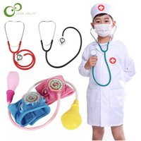 Simulation doctor nurse work Children Uniform Cross Coat Halloween Costume Kids Cosplay Baby Toys Set Fancy Party birthday 921