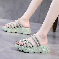 Dress Shoes Sports Outdoor Casual Thick Bottom Fashion Platform 2021 Pattern Summer Women Sandals