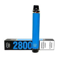 퍼프 플렉스 전자 담배 스타터 키트 2800 퍼프 일회용 vape 펜 1500mAh 배터리 10ml 사전 가득 찬 13colors 원래 증기 도매