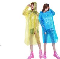 45G одноразовый плащ для взрослых аварийный водонепроницаемый капюшон Poncho Travel Travel Camping должен быть дождевым пальто унисекс одноразовая дождевая одежда DWA7042