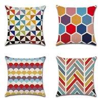 Подушки чехлы декоративные льняные наволочки наволочка для подушки для подушки для дома для дома декор кровати 45 х 45см, набор из 4