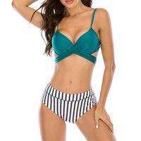 Muolux Swimsuit Push Up Bikini Set Plus Размер Женщины Купальники Сексуальная Полоса Регулируемый Ремешок Грабая Бикини Летний Купальник