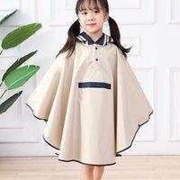 Regenmäntel Kinder Jungen und Mädchen Grundschüler Studenten Große Kinder mit Schultaschen Lange Fashion Cloak Ponch