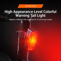 Bike Lights 6 Modes 24 Wicks Touch Screen Tail Light Dead Flying Bicycle Warning USB Night Riding Rechargeable
