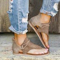 Frauen Sommer Clip Toe Sandalen Schuhe Sandalia Feminina Damen Reißverschluss Bequeme Wohnungen Sandalen Casual Beach Sandale Zapatos de Mujer Neue L3DE #