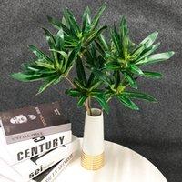 35/50cm FAIS Palmier artificiel Feuille de banane artificielle Faux Plantes Silk Bamboo Feuilles Petite Branche d'arbre de Bonsaï pour la décoration de bureau à domicile