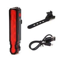 USB القابلة لإعادة الشحن الجبهة دراجة الخلفية ضوء الليزر أدى دراجة الخليفة الدراجات خوذة ضوء مصباح جبل دراجة اكسسوارات 185