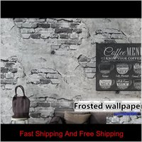 Wallpaper For Walls 3 D Retro Vintage Gray 3D Wallpaper Cement Brick Wall Industrial Wind Rustic Background Wall Paper Lnaye Zgohx
