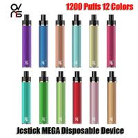 100% original Ovns JCstick Mega Cigarettes jetables Kit de périphérique 1200 Puffs 950mAh Batterie Prérouvé 5 ml Pod Vape Pen vs Bang XXL