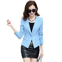 Frühling New Herbst Ol'Korean Woman Solid Color Office Kurzer Blazer Anzug Nur Damenknopf 93 Uvlz