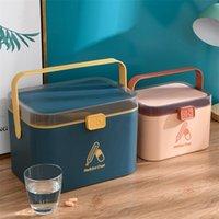 WBBooming Ev Bakımı Tıp Dolabı Plastik Saklama Kutuları Dikdörtgen Saklama Kutusu Taşınabilir Ve Moda Renk Saklama Kutuları Bineler 210315